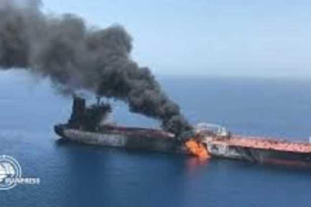 Explosion on Iranian tanker