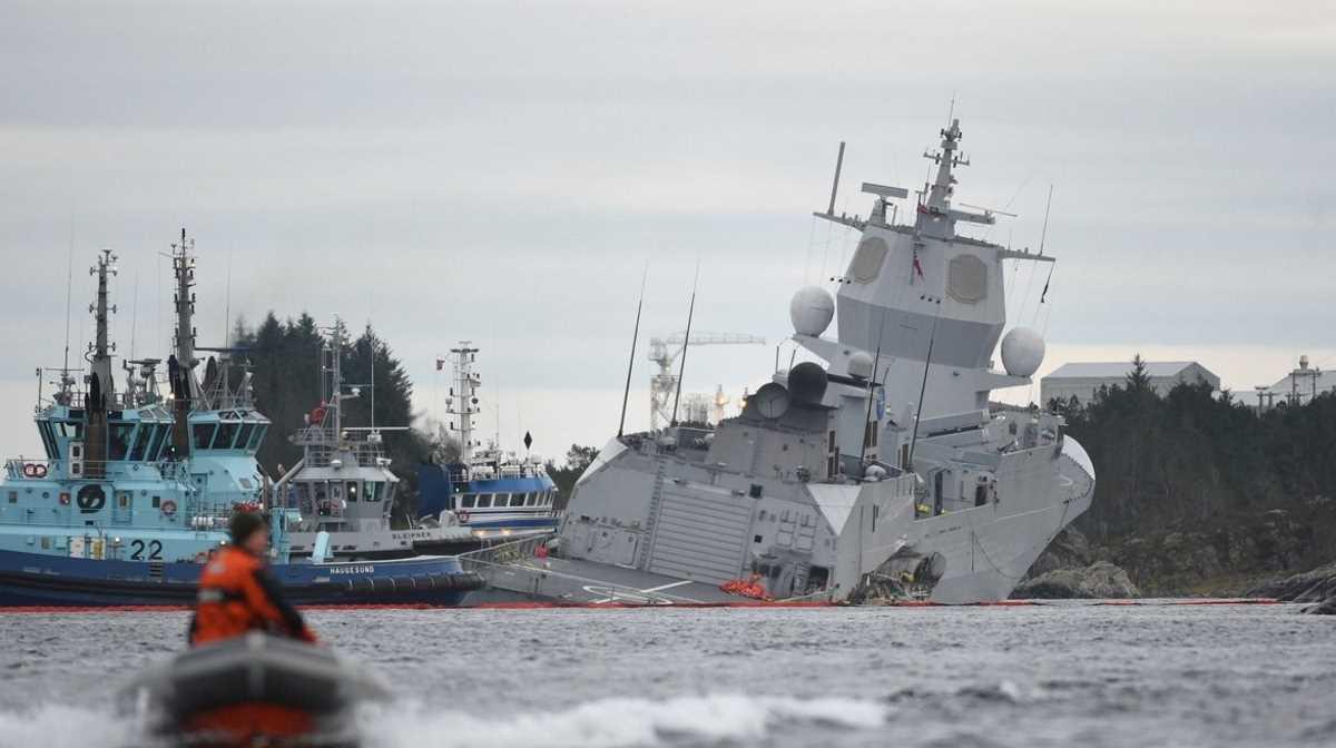sunken Norwegian frigate