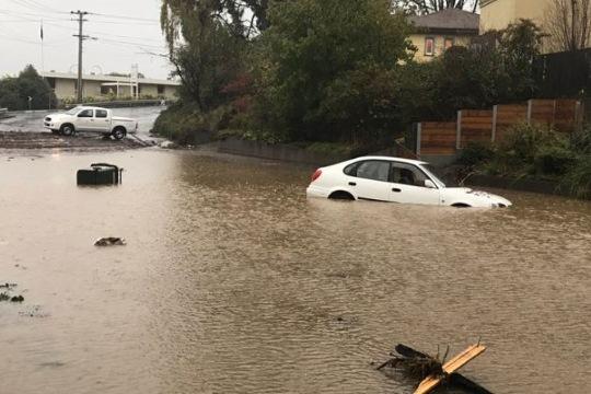 flash flooding in Tasmania