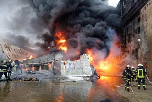 Fire Iran oil refinery