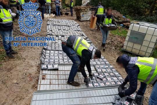 Spain seizes tonnes of cocaine