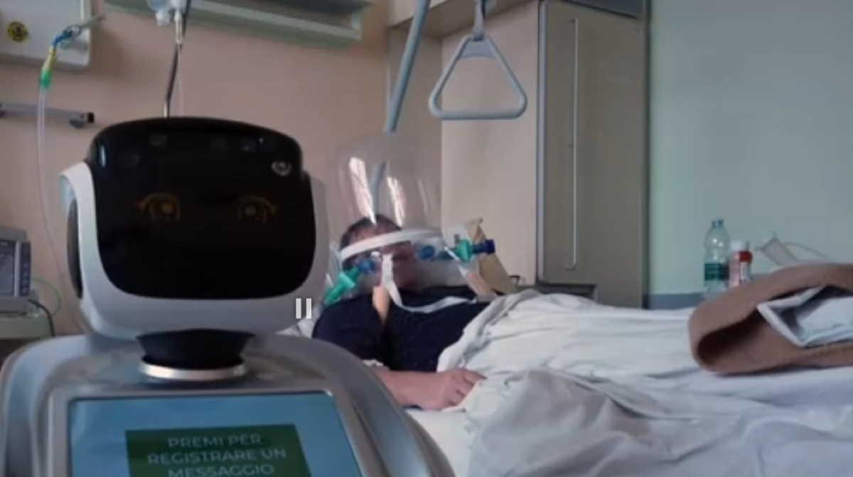 A robot in an Italian hospital