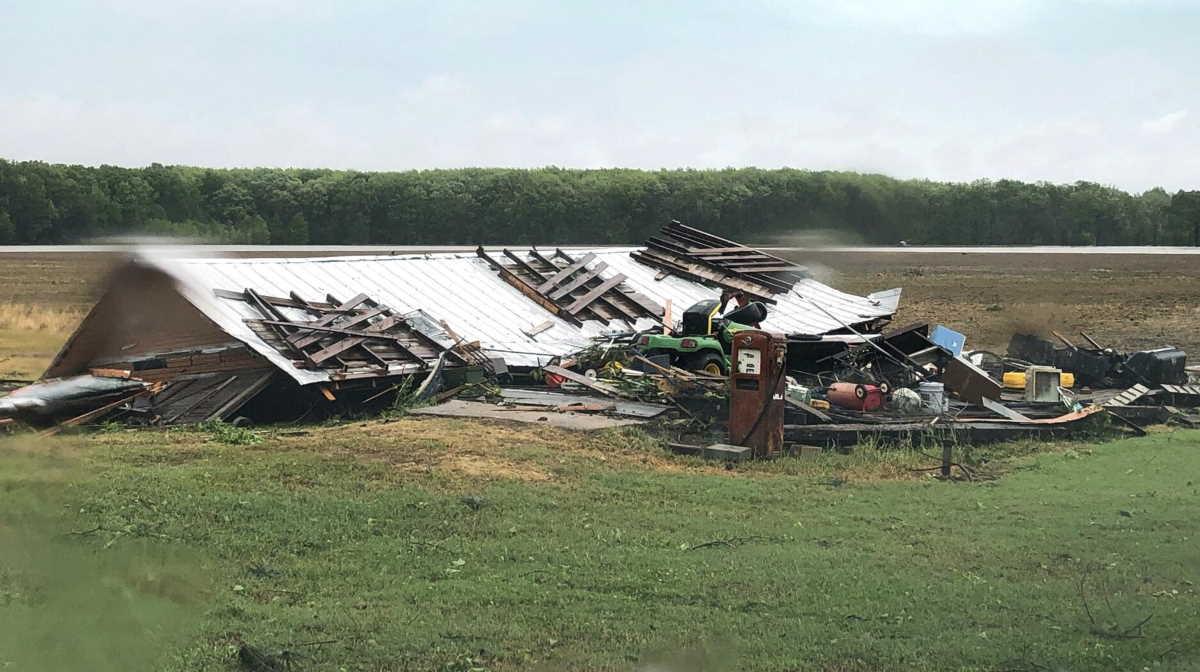 A tornado hit Mississippi