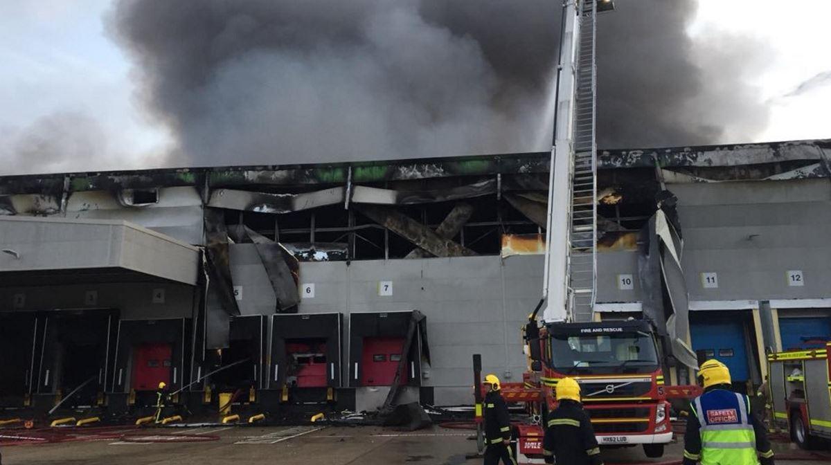 Andover warehouse fire