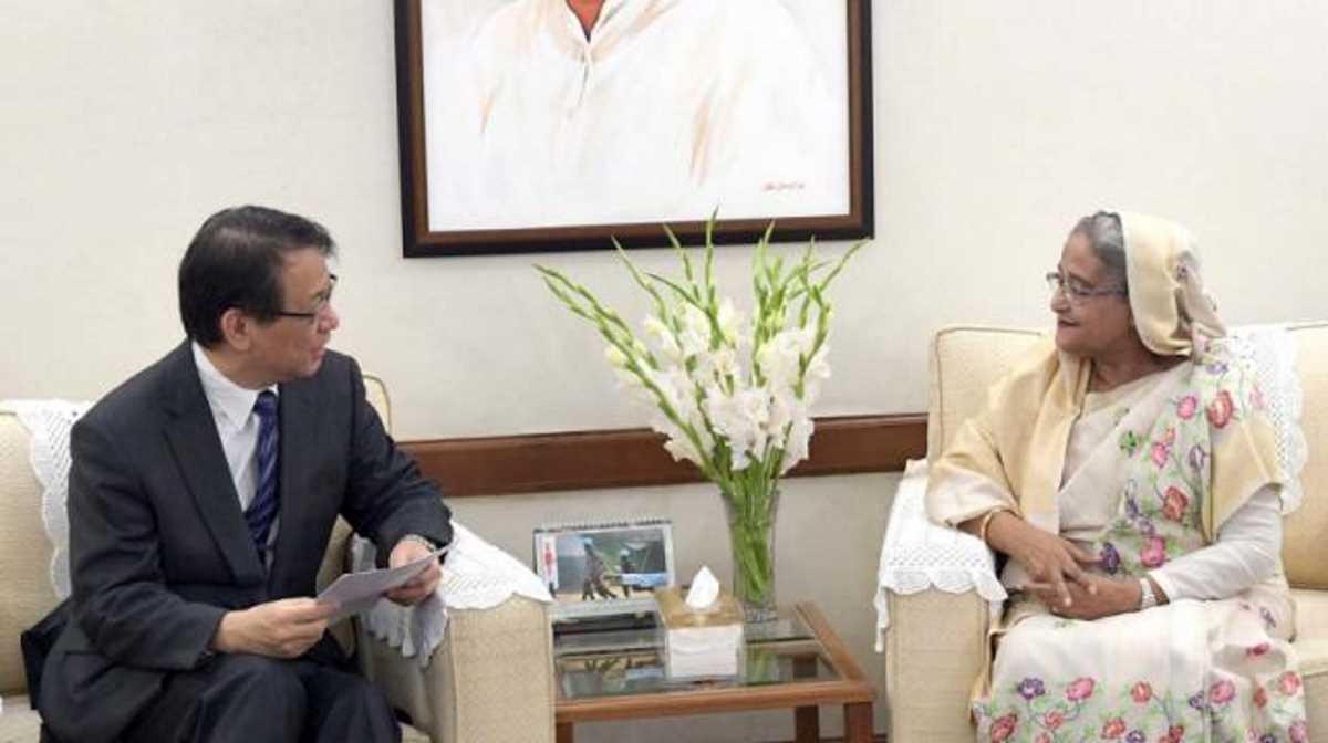 Hiroyasu Izumi and Sheikh Hasina