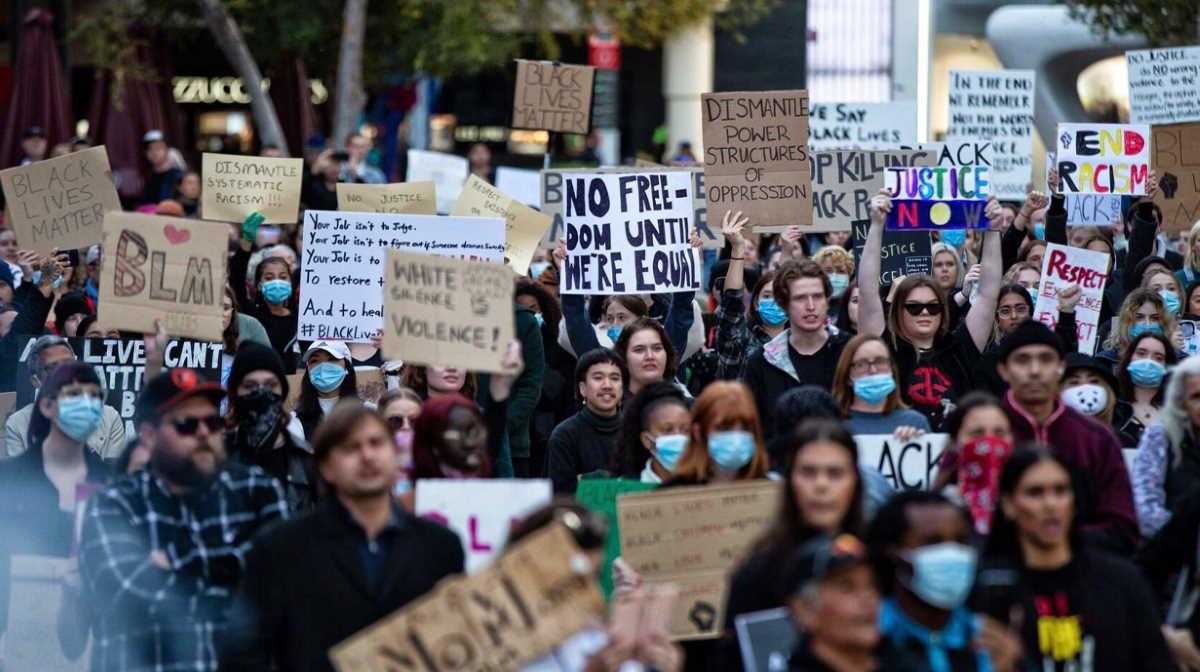 George Floyd protest Australia