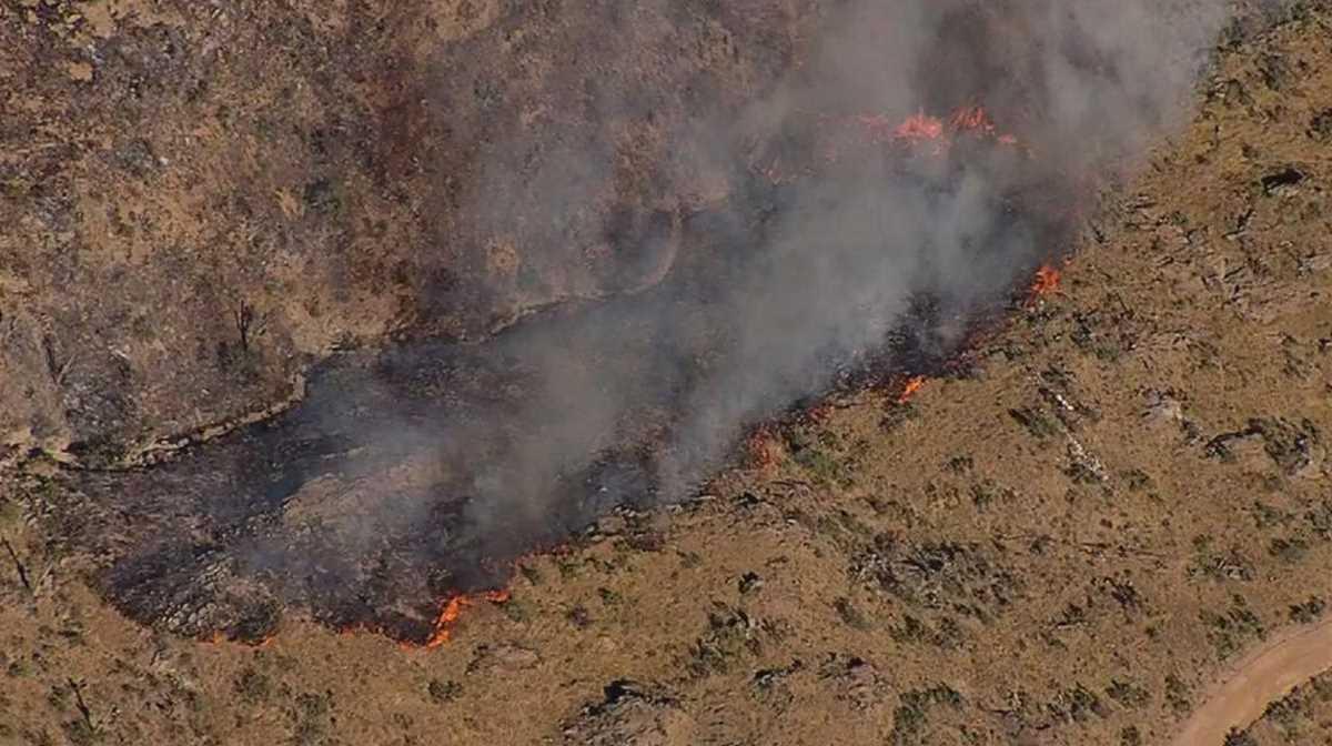 Woodbury Fire in Arizona burns