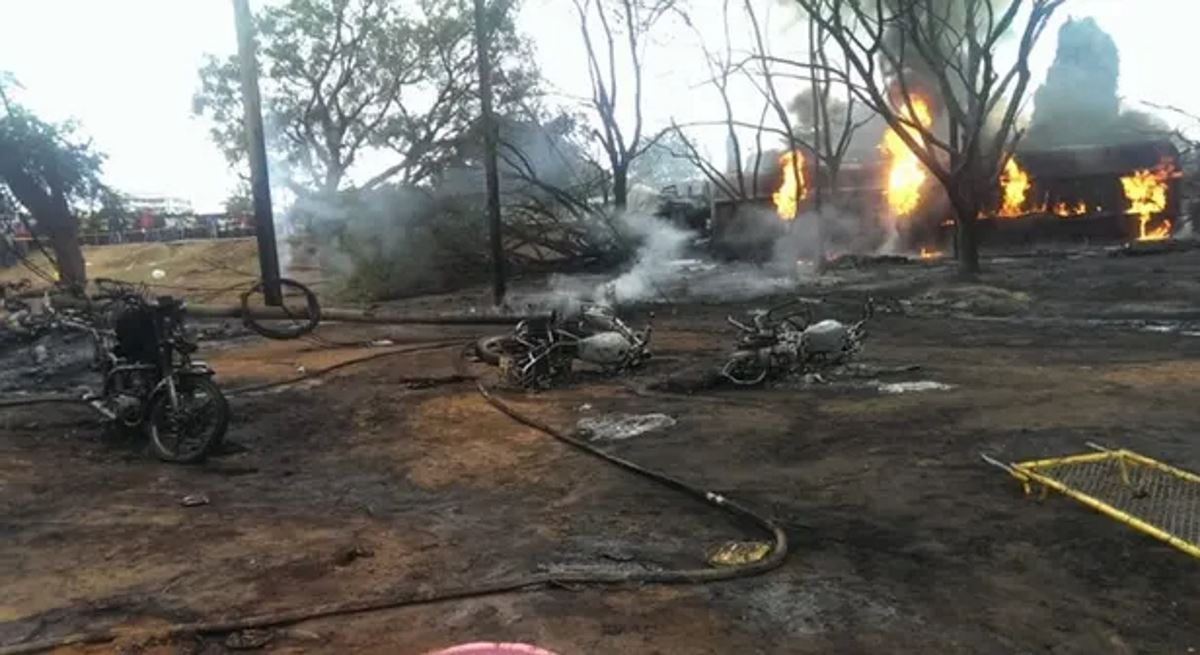 Fuel tanker explosion