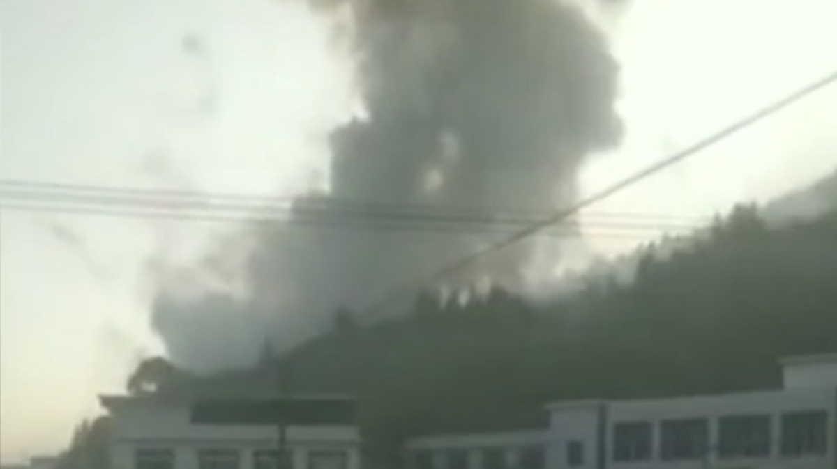 Fireworks factory blast