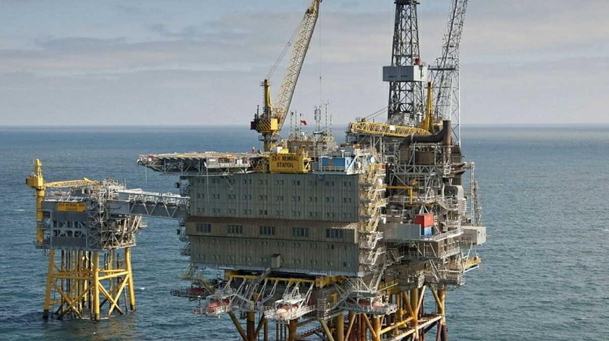 Heimdal platform in the North Sea
