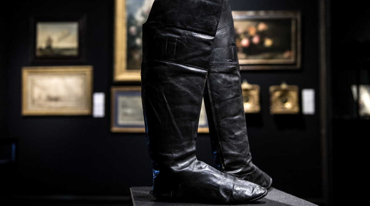 Napoleon's famous boots were sold