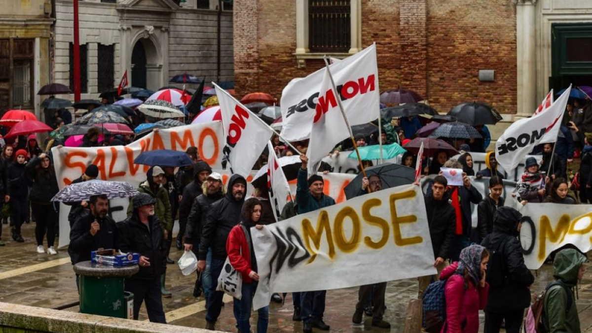 Protest in Venice