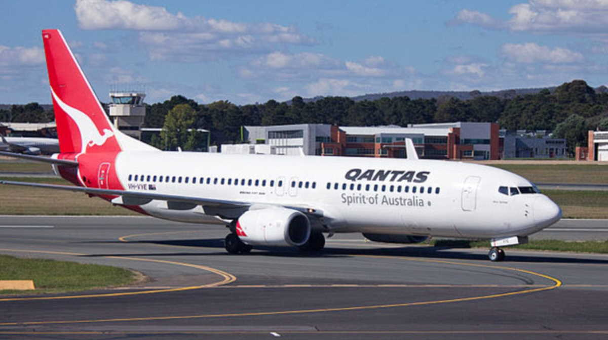 Qantas on Canberra airport