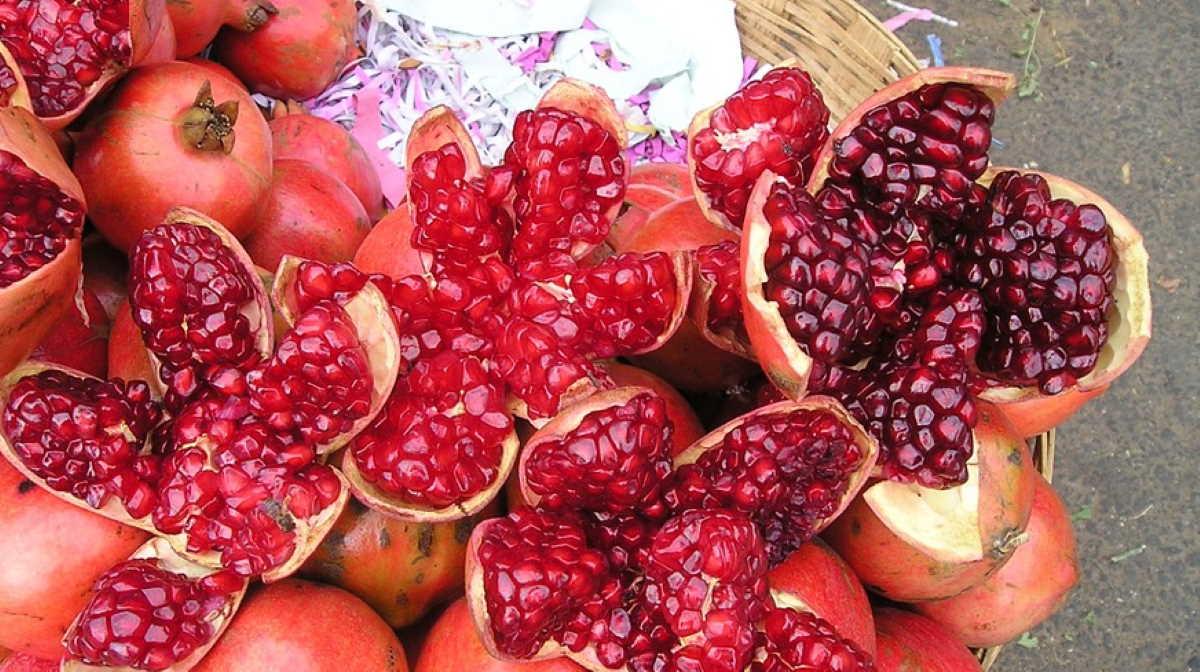 India pomegranates