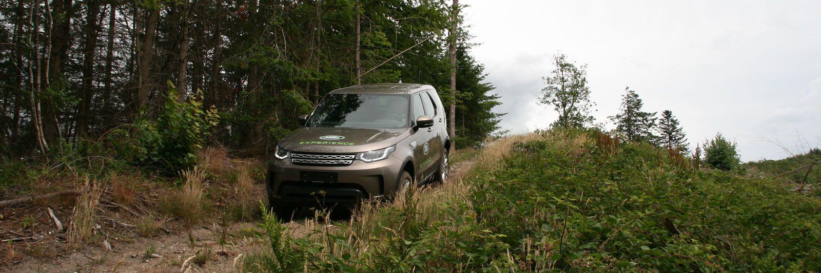 <br>Prøv en Land Rover i terræn.<br>