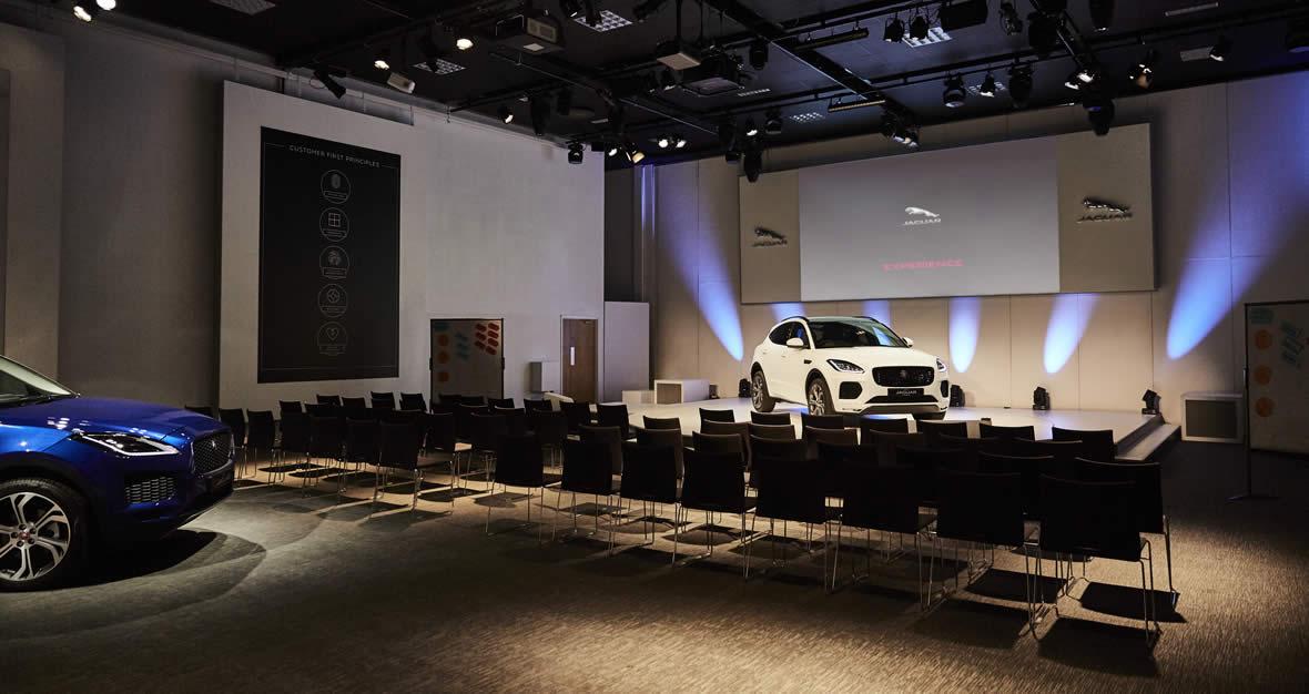 Theatre room at Jaguar Experience Castle Bromwich