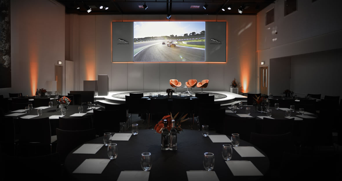 Conference layout at Jaguar Experience Catsle Bromwich