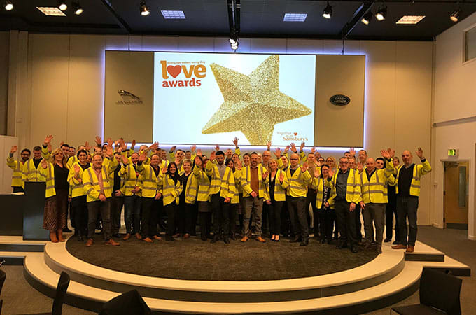 The LOVE Awards event at Jaguar Experience Castle Bromwich