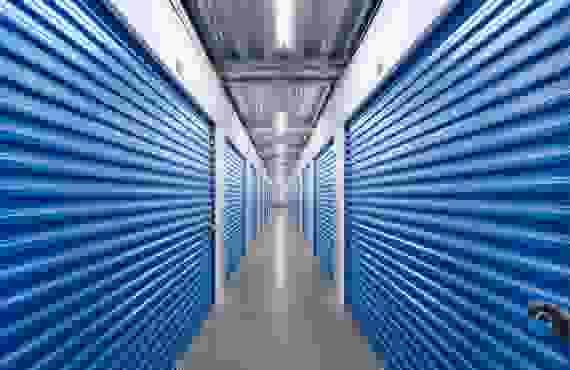 Inside row of 2 storage units at ABC Mini Storage at 701 Aaron Dr, Richland, WA