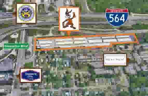 Aerial view of entire facility at Jack Rabbit Storage at 8710 Hampton Blvd, Norfolk, VA