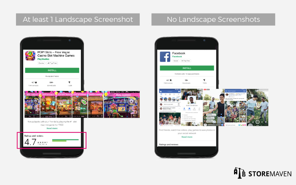 App Landscape Screenshots