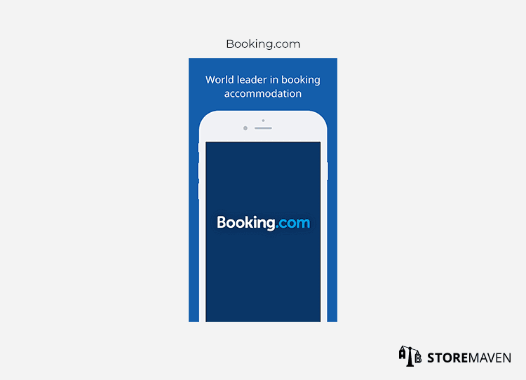 Booking.com app example