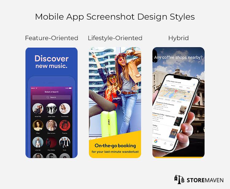 Mobile App Screenshot Design Styles