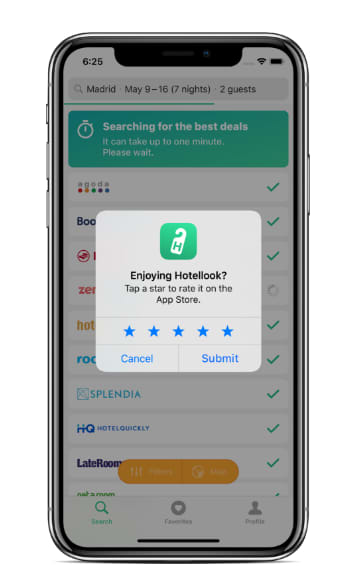 in-app native rating requests