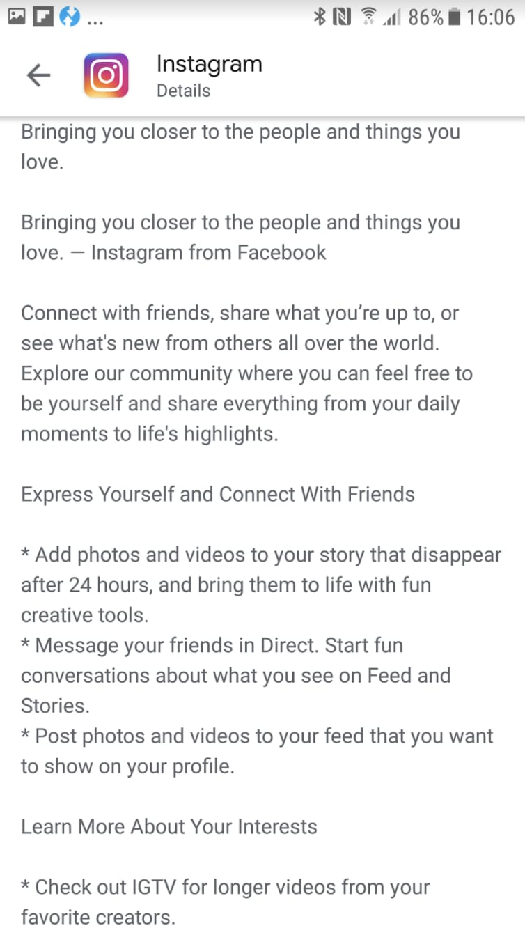 Google Play Long Description