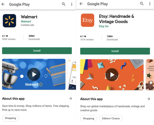 Google Play App examples