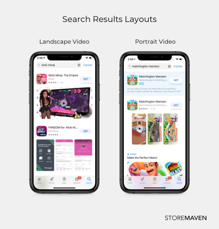 Search Results Layouts
