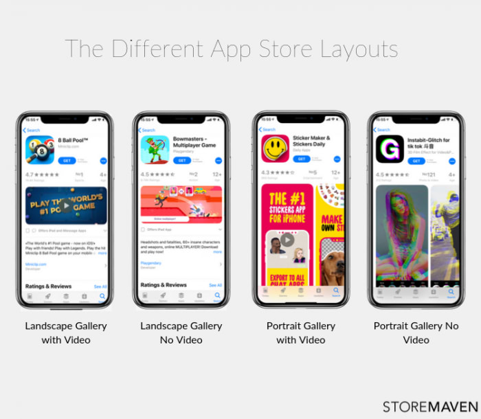 Different App Store Layouts