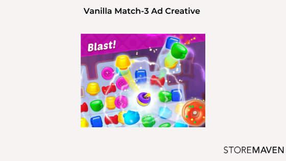 Vanilla Match-3 Ad Creative