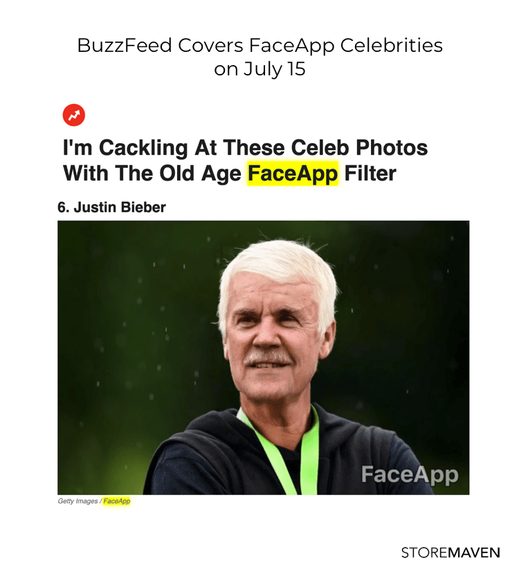 BuzzFeed Covers FaceApp Celebrities on July 15