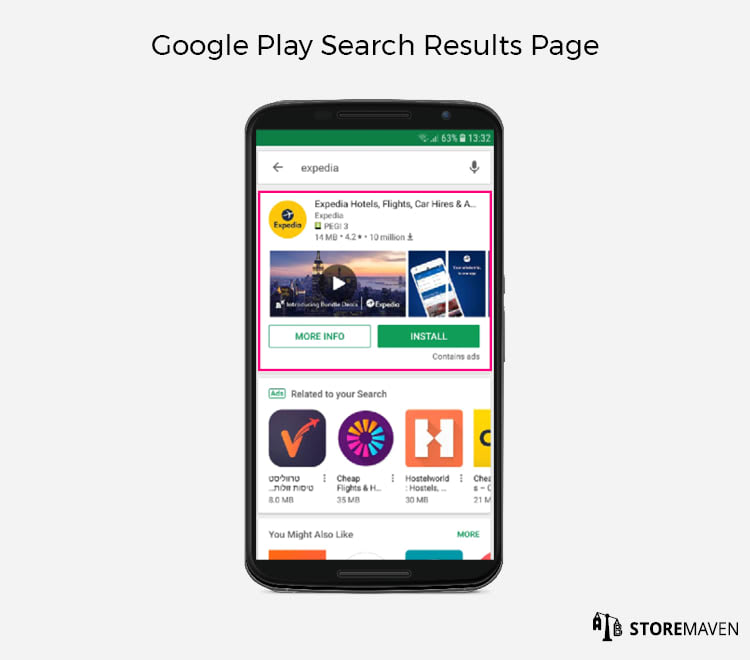 Google Play Search Results Page