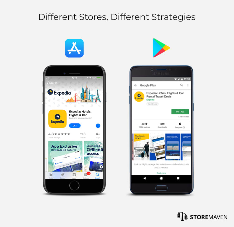App Store & Google Play store layouts