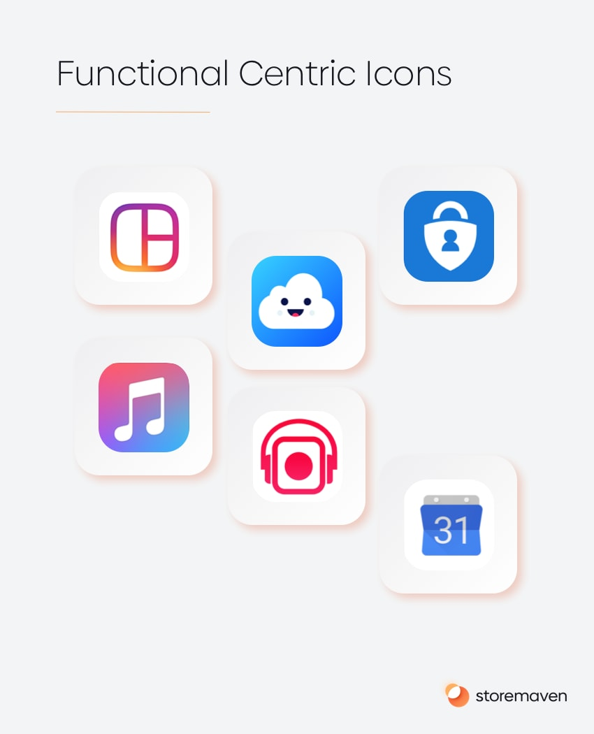Functional Centric Icons