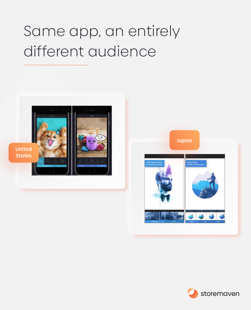 Same app, an entirely different audience
