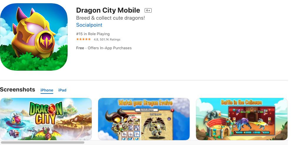 Dragon City Mobile App