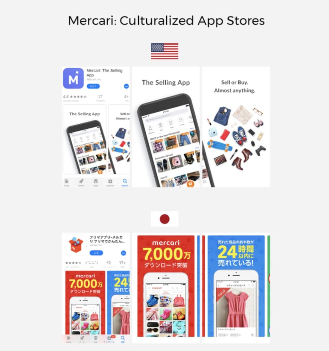 Mercari: Culturalized App Stores