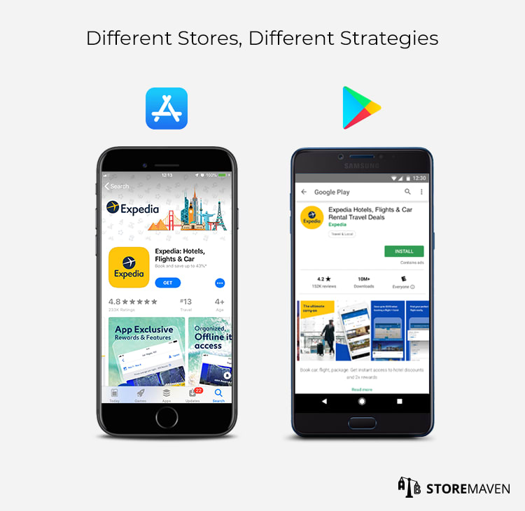 Apple App Store and Google Play Store are Different Platforms