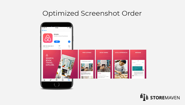 Airbnb: Screenshot Design Order