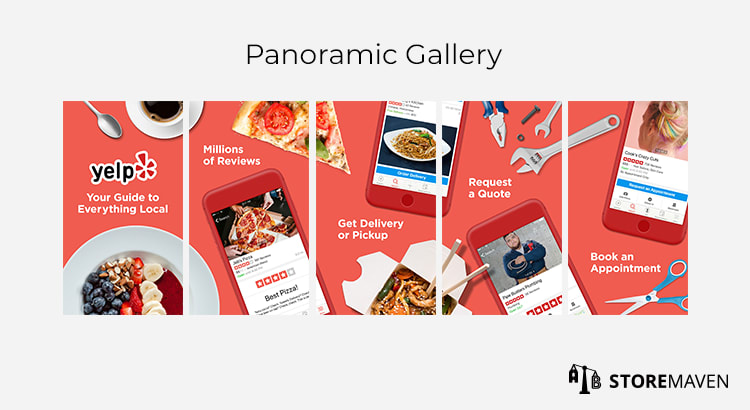 Mobile App Panoramic Gallery