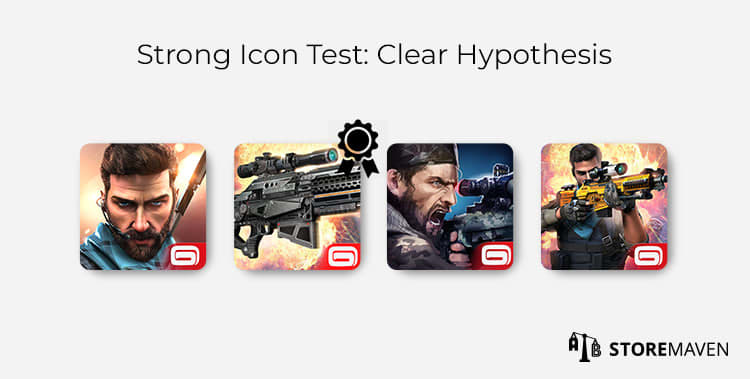 Strong Mobile App Icon Test: Clear Hypothesis