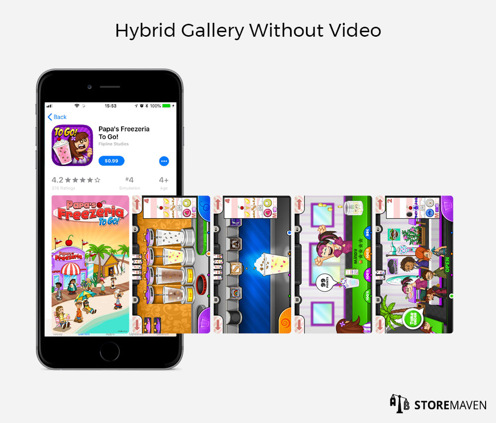 App Store Hybrid Gallery without Video