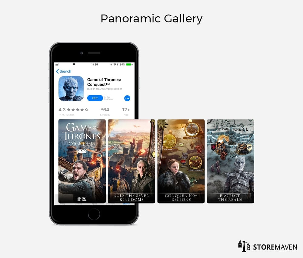 App Store Panoramic Gallery