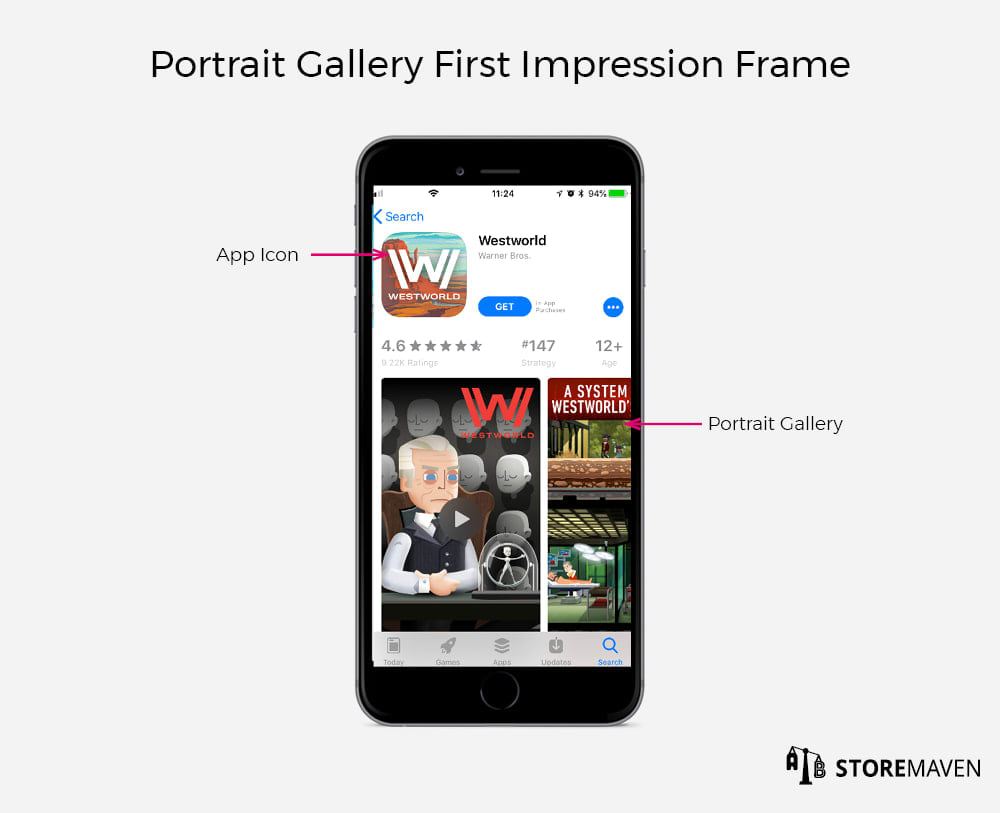 Apple App Store Portrait Gallery First Impression Frame