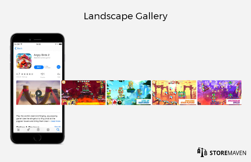 Apple App Store Landscape Gallery