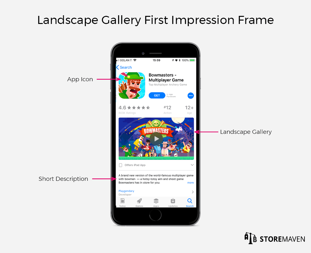 Apple App Store Landscape Gallery First Impression Frame