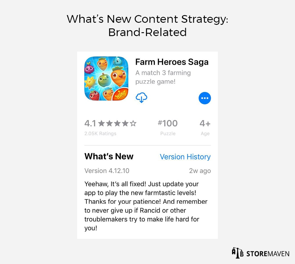 What's New Content Strategy: Brand-Related